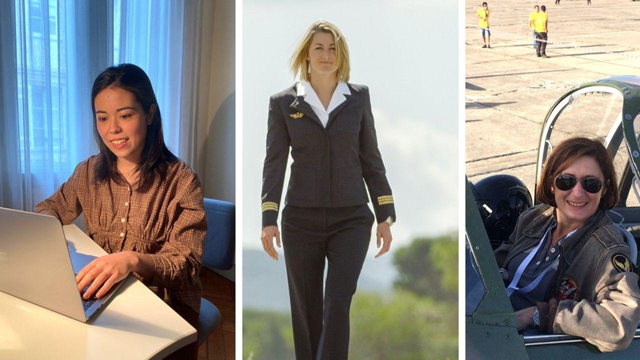 Clara Lecroisey, Aude Lemordant et Iza Bazin exercent toutes les trois des métiers d'hommes… et s'y plaisent.