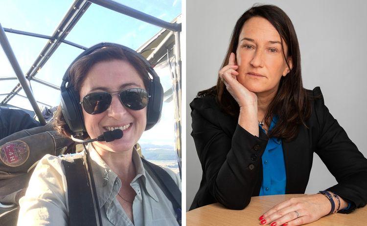 Iza Bazin travaille pour les plateaux de cinéma où il y a des avions de collection et Agathe Giffaut est cheffe d'entreprise dans le BTP.