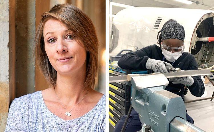 Claire Chabas est ingénieure chez Back Market et Wendy Da Horta Pereira est mécanicienne structure en alternance à Air France.