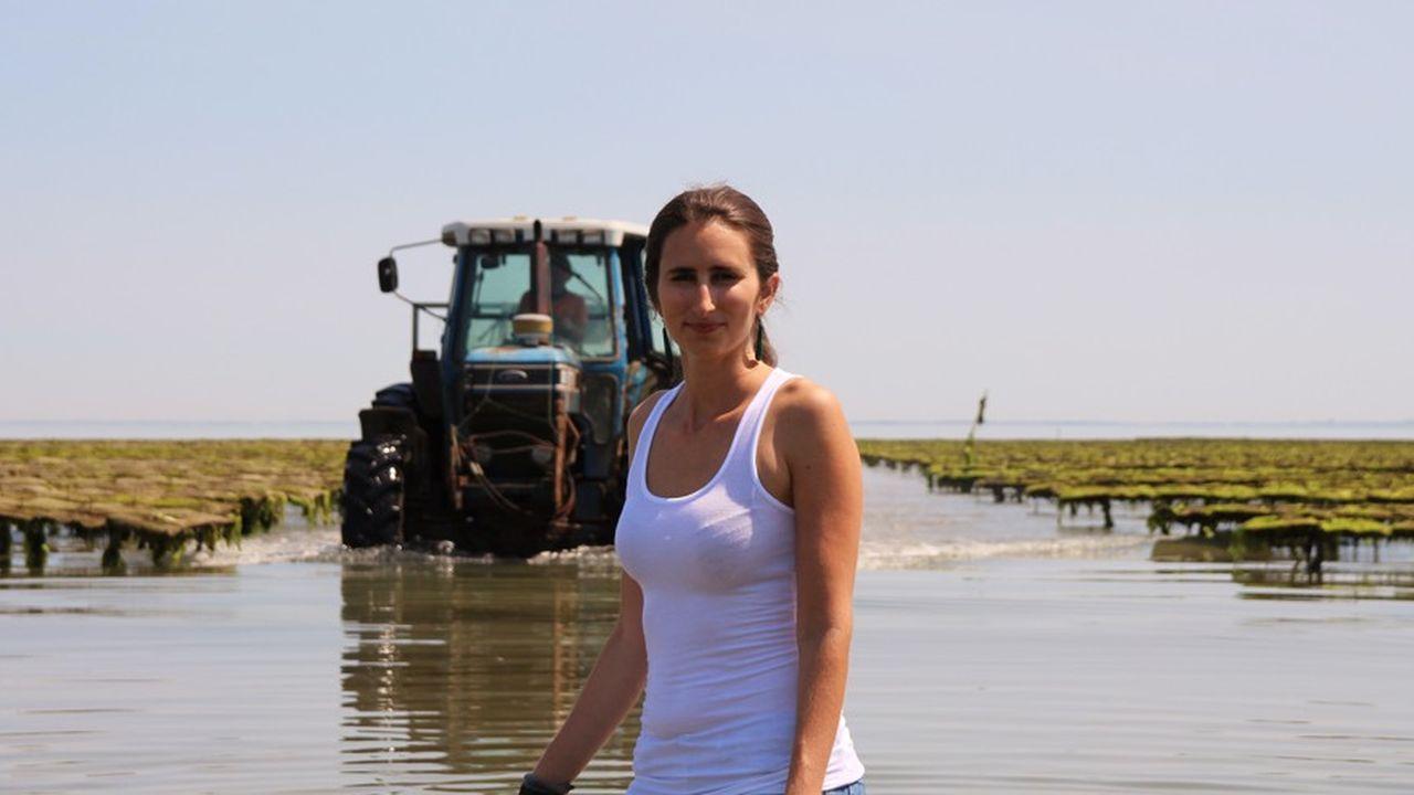 Anne-Line Courpron a quitté son emploi chez Deloitte pour rejoindre l'entreprise familiale d'ostréiculture.