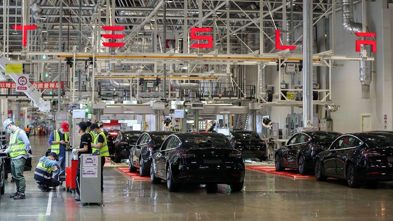 La «Gigagfactory» de Shangai (photo) offre à Tesla un accès direct au marché chinois, le plus important au monde.