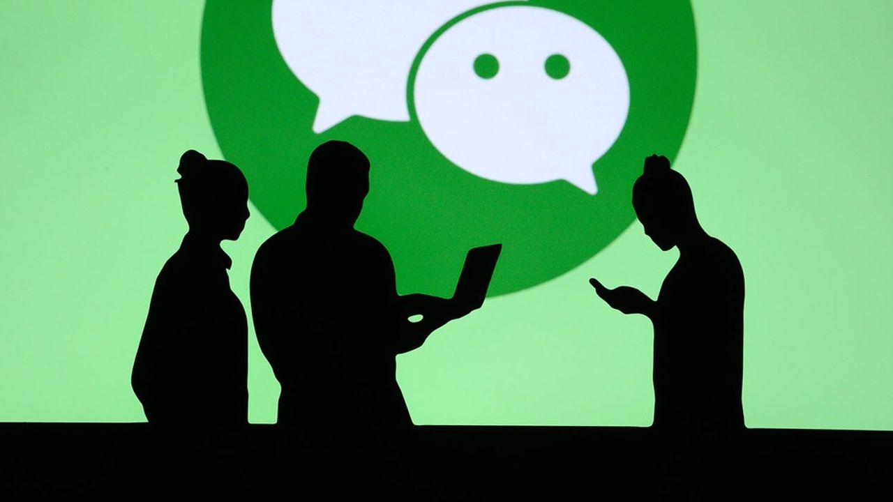 Créée en2011, la super-app WeChat du chinois Tencent est utilisée désormais par 1,2milliard de personnes.