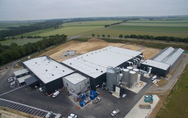 Le site industriel de Nesle, dans la Somme (Hauts-de-France)
