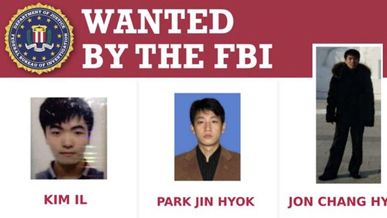 Les trois Nord-Coréens inculpés sont «membres du Bureau général de reconnaissance et d'une agence de renseignement militaire», selon Washington