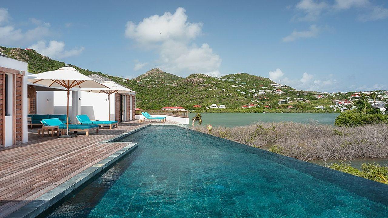 Pour un peu moins de 8 millions d'euros, une villa avec piscine donnant sur la baie de Grand-Cul-de-Sac, à Saint-Barth.