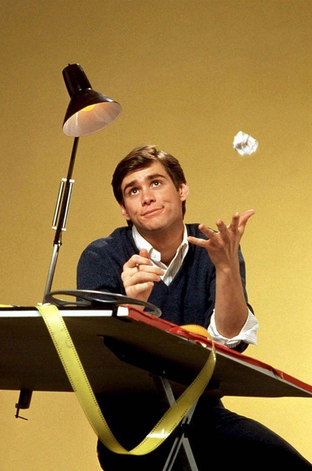 Jim Carrey en 1984 dans la sitcom « The Duck Factory ». Son premier vrai grand rôle.