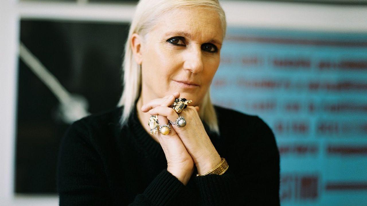 Maria Grazia Chiuri, directrice artistique de la création féminine de Dior, à Paris, le 26 janvier 2021.