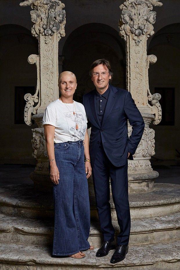 Maria Grazia Chiuri et Pietro Beccari, PDG de Christian Dior Couture.