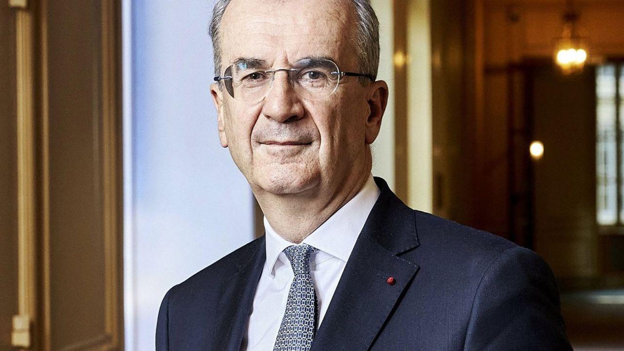 François Villeroy de Galhau, gouverneur de la Banque de France, à Paris dans la salle du conseil de la Banque de France.