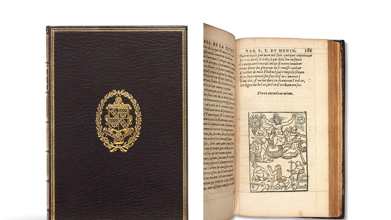 «Nouvelles oeuvres», de Jean-Edouard Du Monin (1559-1586), publié en 1582 et illustré d'une belle gravure de la résurrection des morts, est estimé 12.000euros.