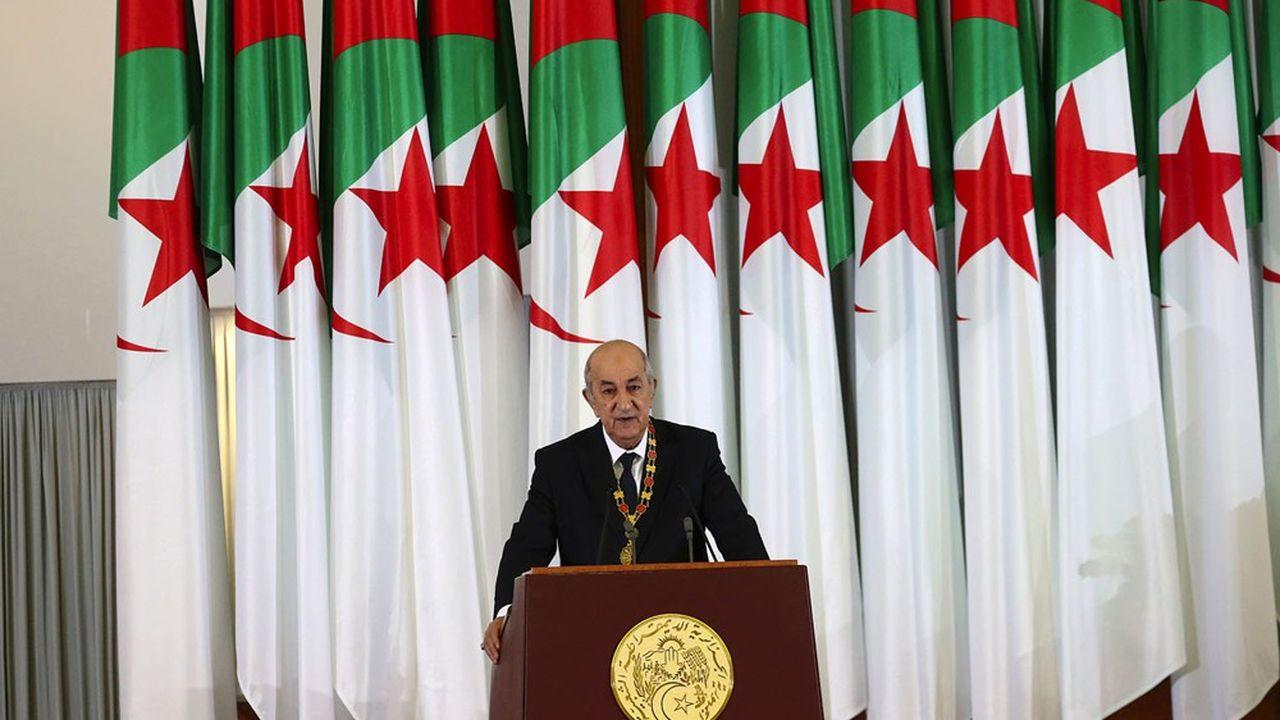 Le président algérien, Abdelmadjid Tebboune, a prêté serment en décembre2019 après son élection lors d'un scrutin boudé par la population.