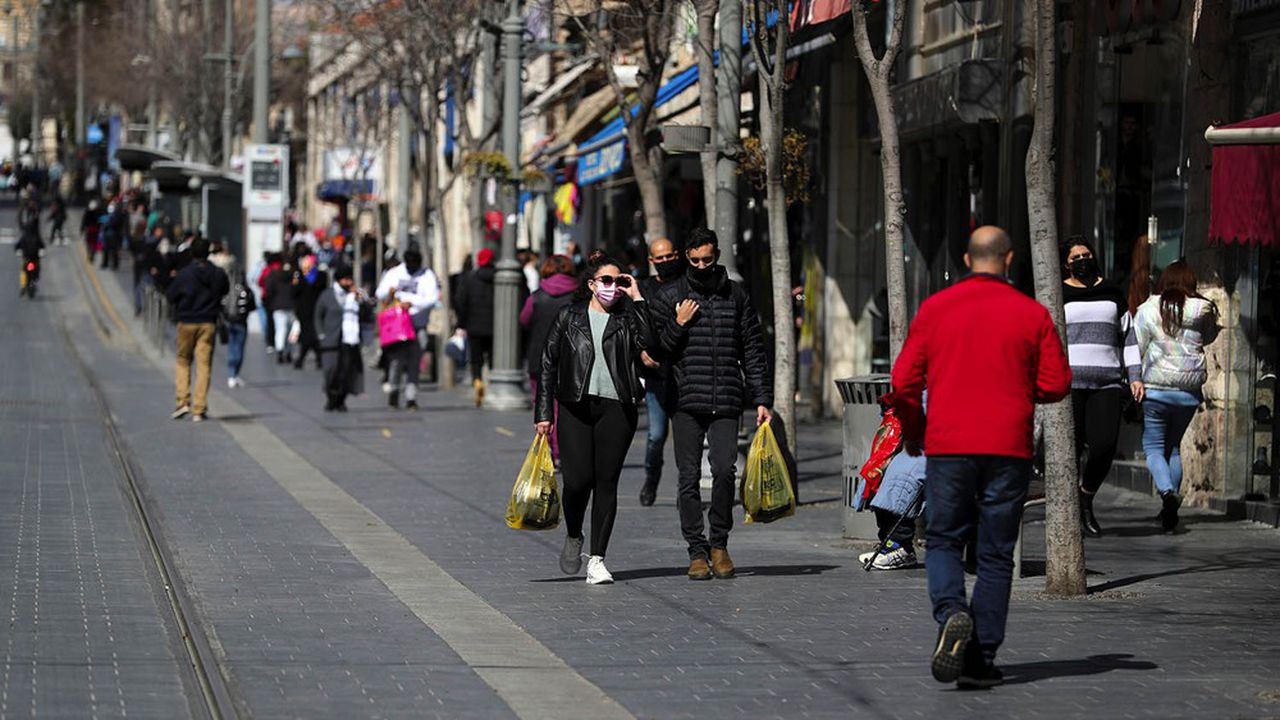 Israël accélère son troisième déconfinement dans l'espoir d'un retour à «une vie presque normale». Ici à Jérusalem le 21février 2021.