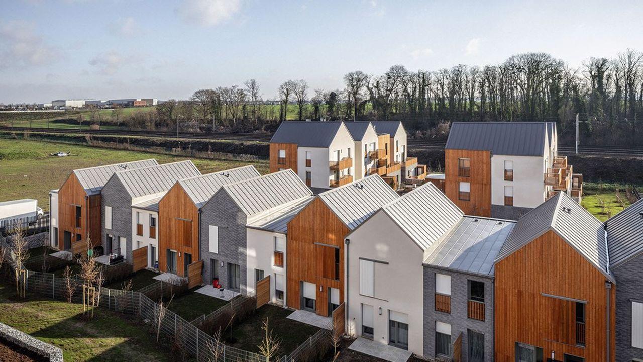 Le programme d'Immobilière 3F sur la ZAC de l'écoquartier de Louvres propose 58 logements collectifs, 20 logements intermédiaires et 9 logements individuels.