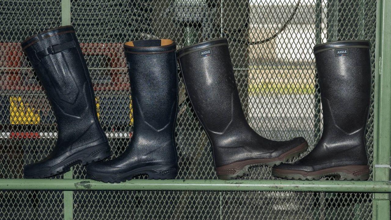 Sur son site d'e-commerce (15% des ventes), Aigle a lancé Second Souffle, des bottes et vêtements de seconde main, dont elle a estimé le prix.