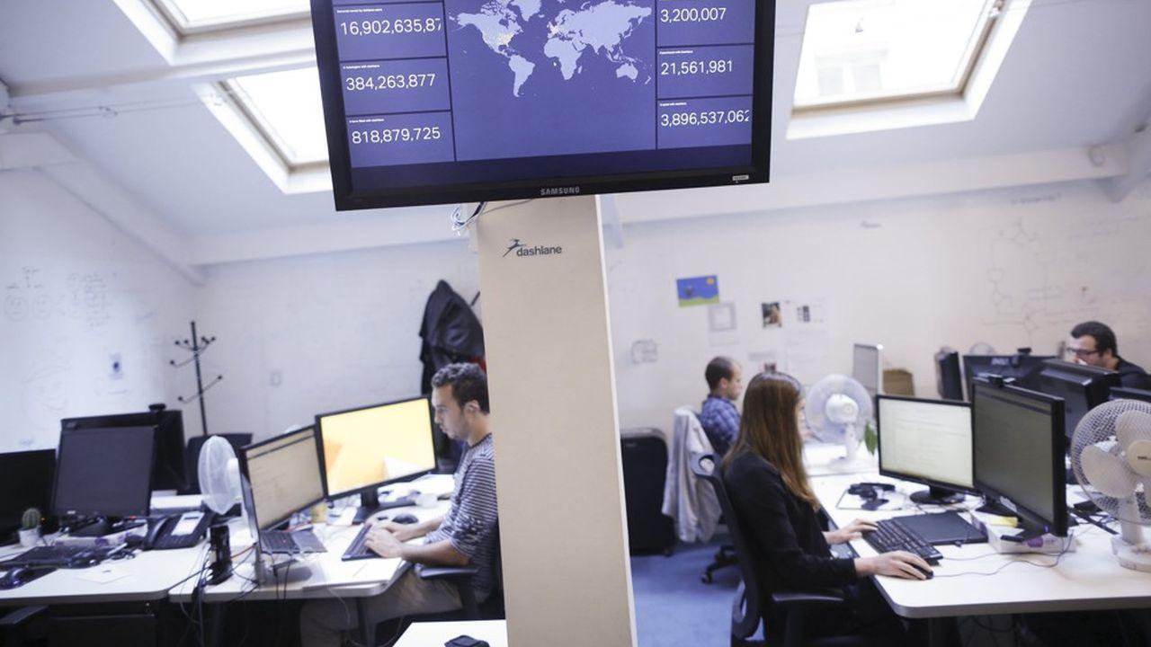 Bureaux de Dashlane, start-up specialisée dans la sécurisation informatique, gestionnaire de mots de passe et éditeur d'un portefeuille numérique.