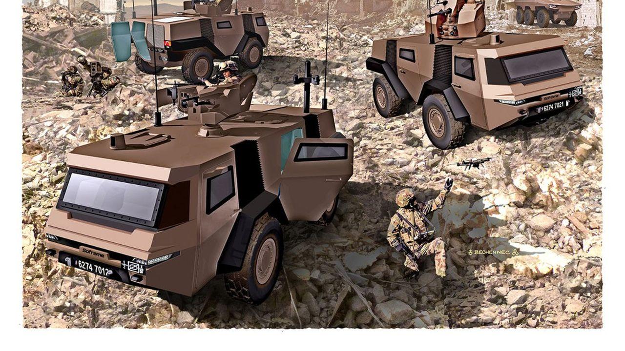 La branche militaire du groupe a officiellement lancé début février un nouveau véhicule blindé de reconnaissance, le Mosaic.