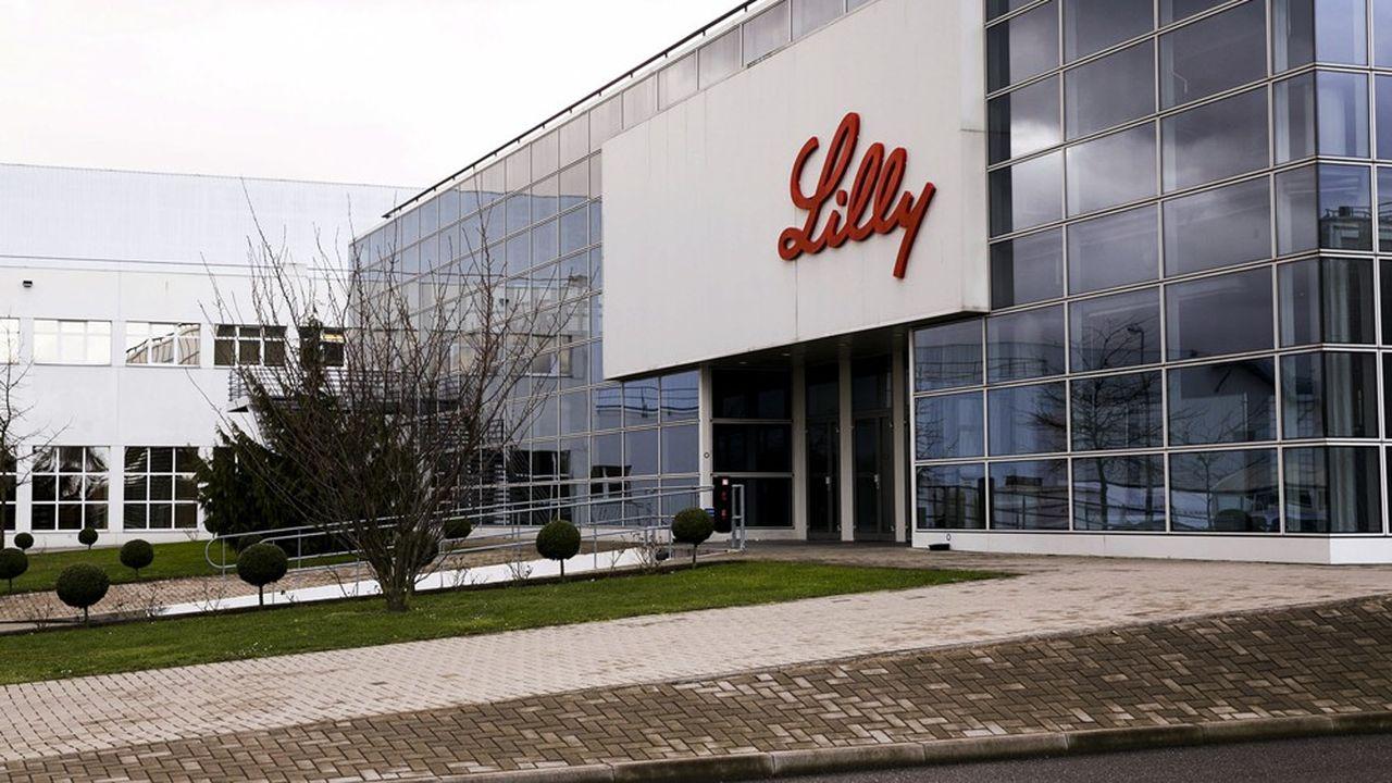 Extérieur usine pharmaceutique Lilly de Fegersheim