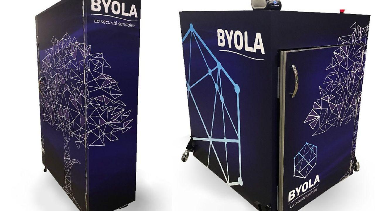 Byola a mis au point quatre types de caissons de désinfection, dont deux ont déjà dépassé le stade du prototype.