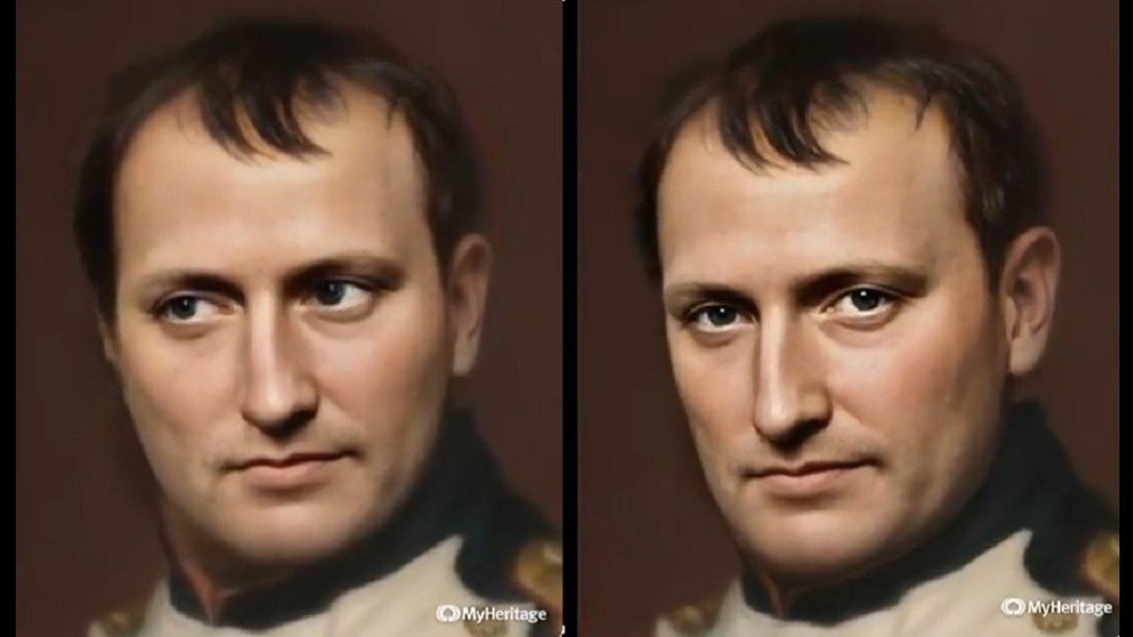 Le visage de Napoléon a pris vie en vidéo grâce à l'outil «Deep Nostalgia».