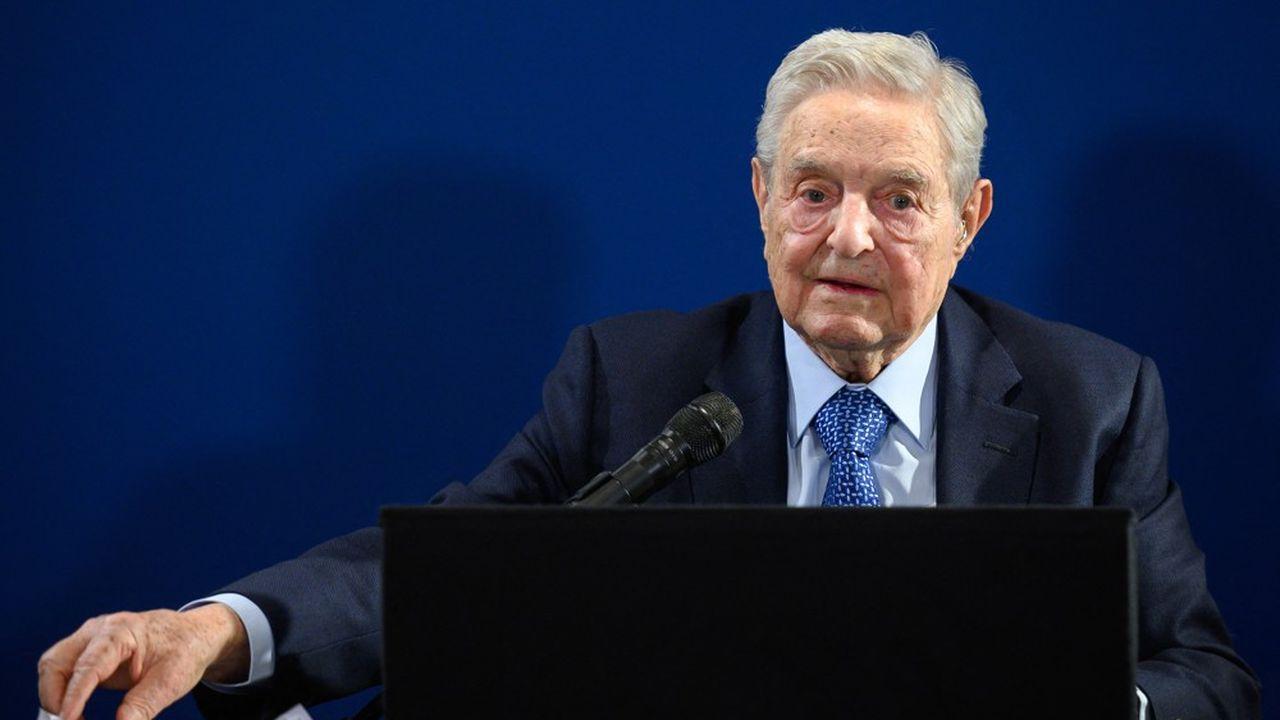 George Soros devant le Forum économique mondial, à Davos, le 23janvier 2020.