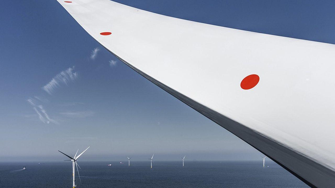 Parc offshore dans la baie de Liverpool, opéré par le danois Orsted, leader mondial de l'éolien en mer.