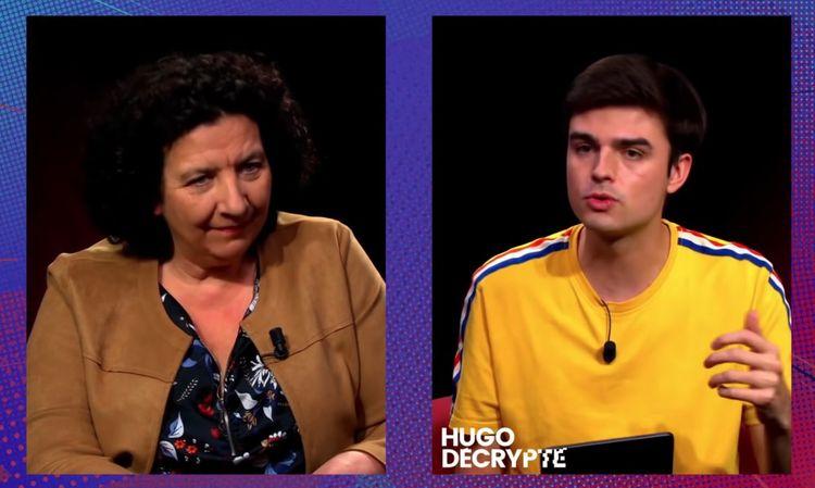 La ministre Frédérique Vidal face à Hugo Travers le 5février au sujet de la précarité étudiante.