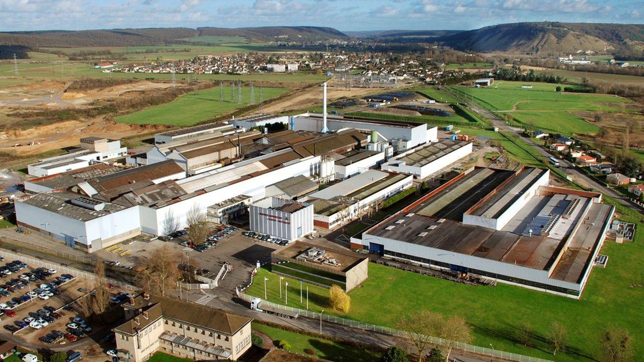 Manoir Industries, le spécialiste de la transformation des métaux est en cessation des paiements depuis quelques jours. Une vue aérienne de sa plus grosse usine située à Pîtres dans l'Eure.