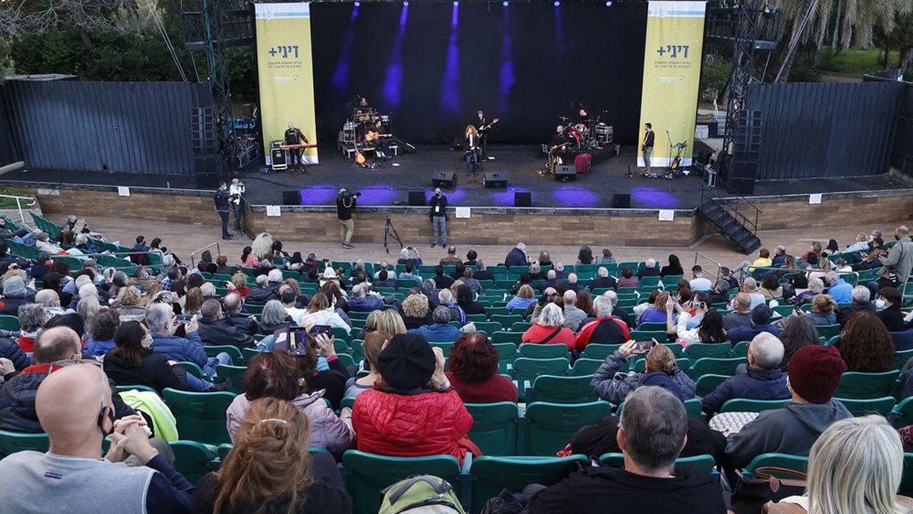Le concert, qui s'est déroulé le 24février dans le parc HaYarkon à Tel Aviv, était le premier en Israël depuis le début de la pandémie.