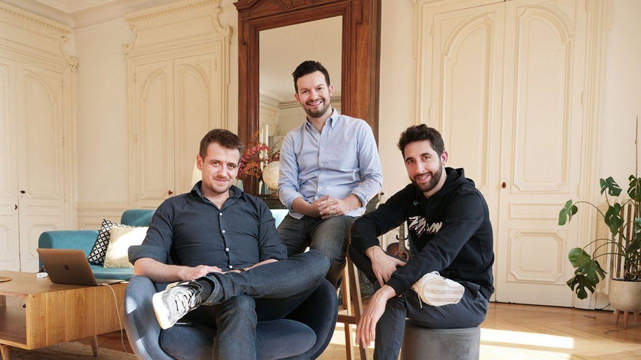 Lucas Mesquita, Matthieu Artaud et Quentin Léchima les trois fondateurs de Caption.