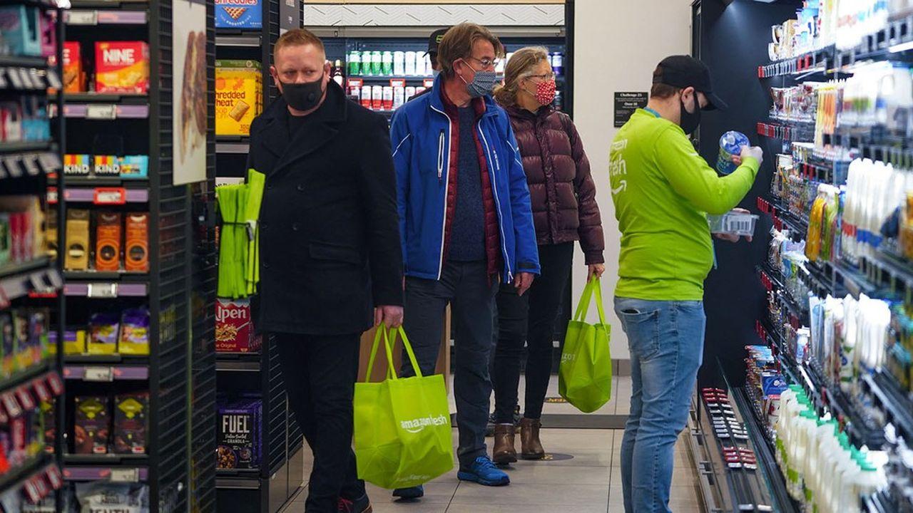 Le nouveau magasin Amazon Fresh ouvert par le géant jeudi à Ealing, dans la banlieue ouest de Londres.