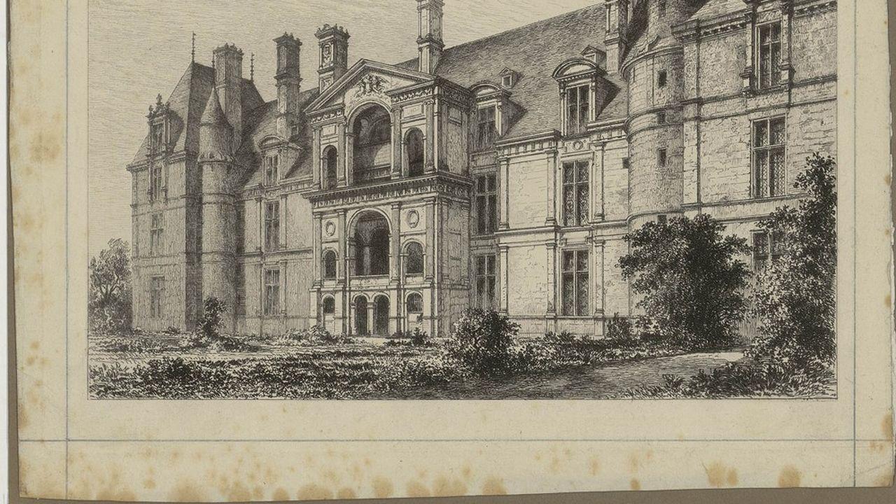 Le château d'Ecouen, sujet de patrimoine architectural dans les archives départementales du Val-d'Oise.