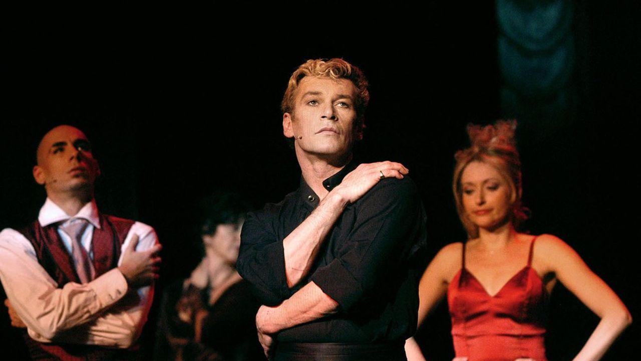 Patrick Dupond en 2003, répétant la comédie musicale «L'Air de Paris» au Théâtre Comedia à Paris.