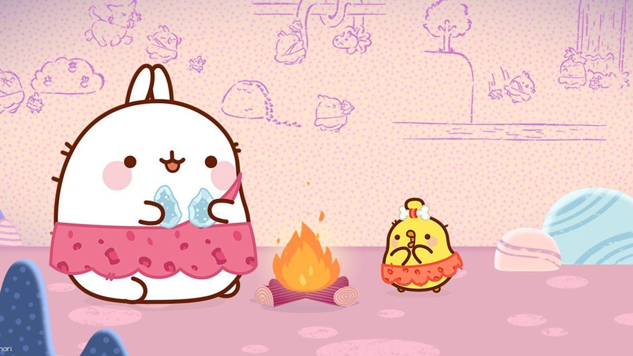 Le dessin animé avec les personnages de Molang et Piu Piu a été vendu dans quelque 200territoires.