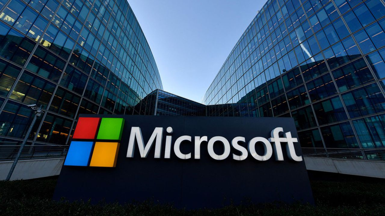 Microsoft sous le feu d'une cyberattaque massive - Les Échos