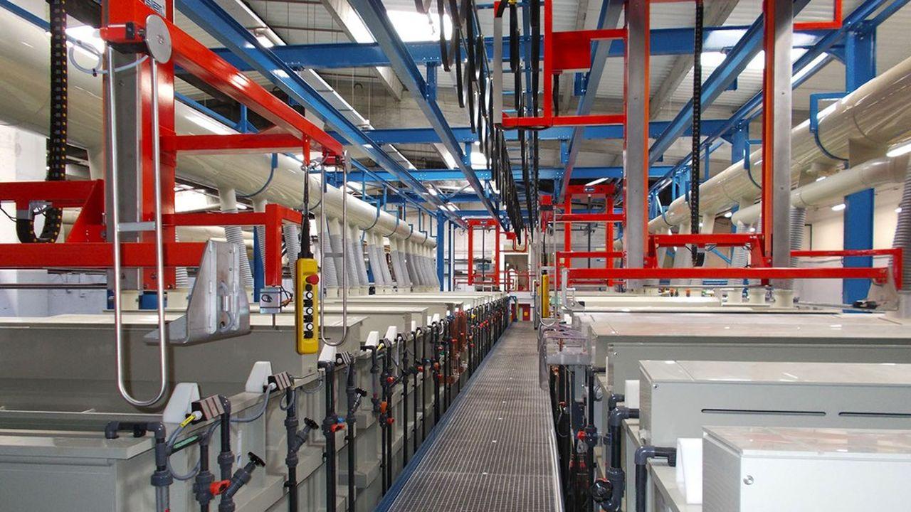 Une ligne d'étamage robotisée chez TDS, comme la nouvelle ligne d'argentage qui va être déployée.