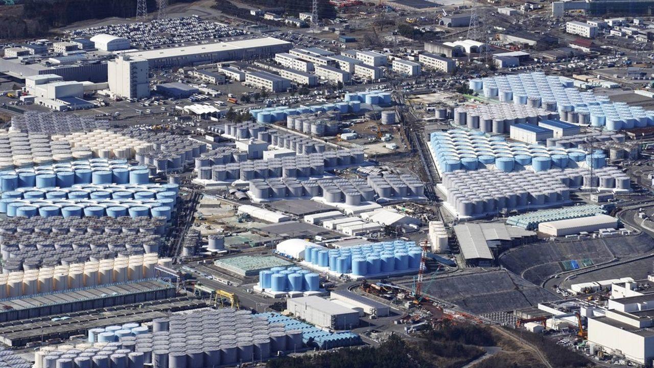 Voici les 1,24million de mètres cubes d'eau stockés pour l'instant dans plus d'un millier de citernes géantes près des quatre réacteurs détruits en mars2011.