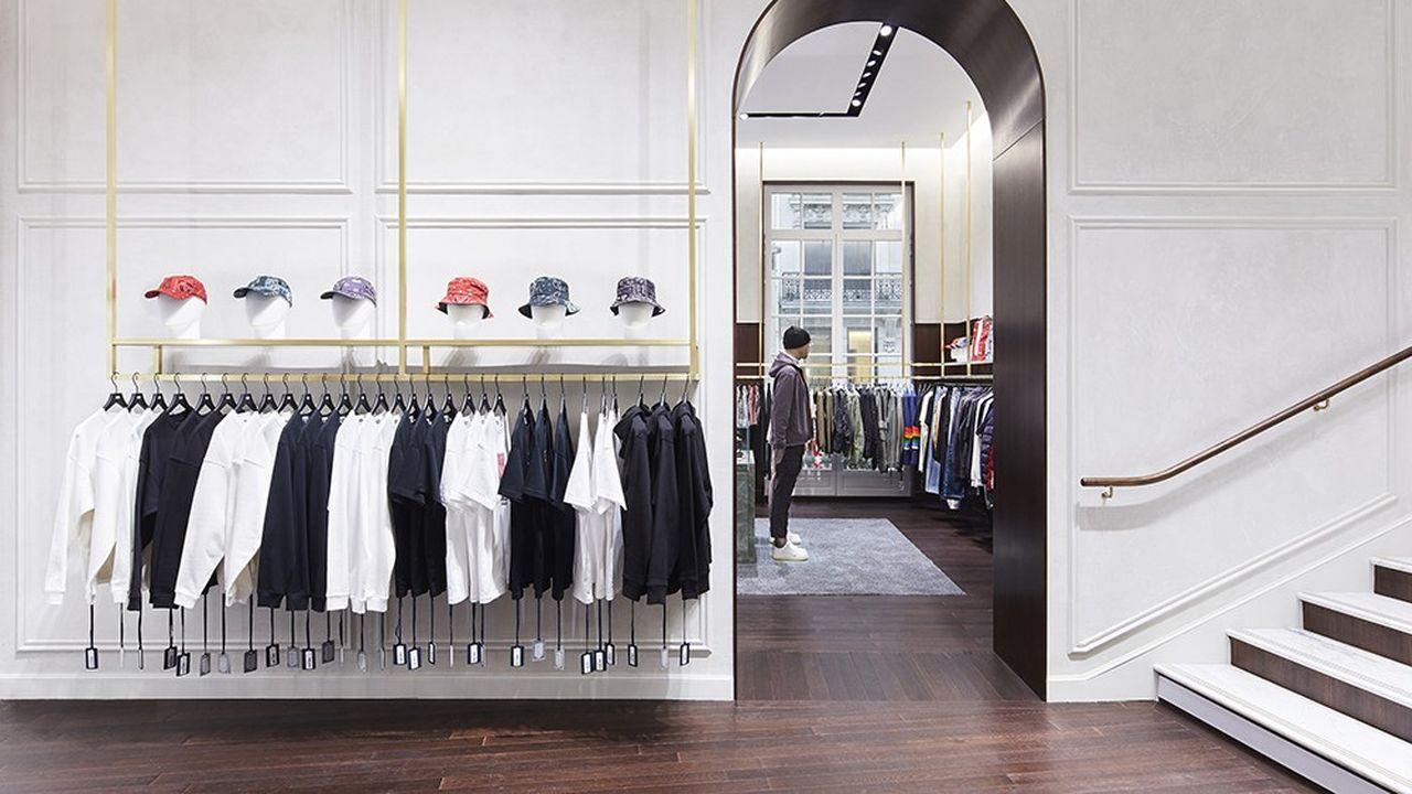 Le concept store Kith dans le VIIIe arrondissement de Paris.
