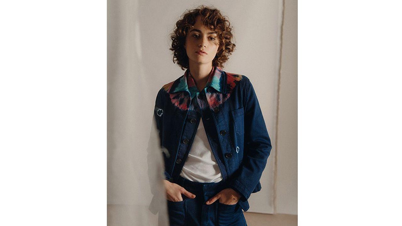 Veste et pantalon en coton Tie&Die, Dior. Tee-shirt en coton, Petit Bateau.