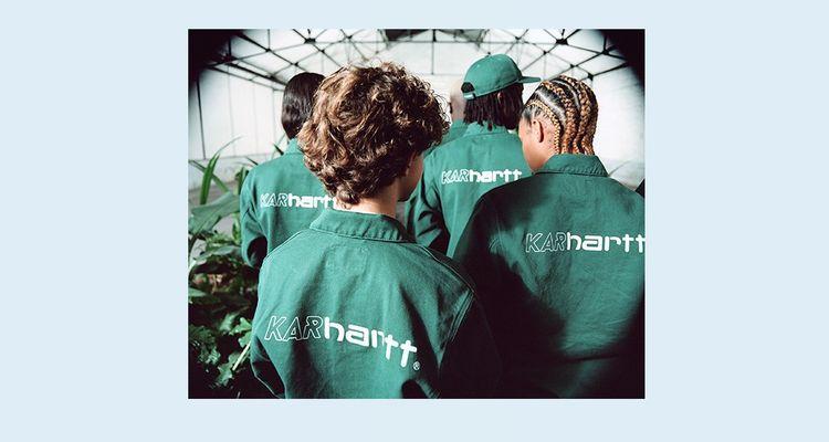 Karhartt, collection capsule issue de la collaboration entre Carhartt WIP et le label parisien L'Art de l'Automobile.