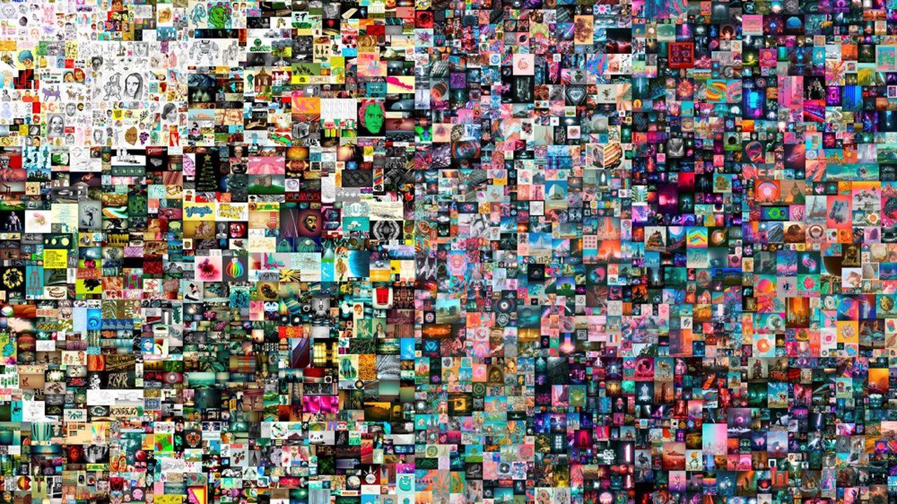 L'oeuvre numérique « Everydays : the First 5.000 Days » a été vendue 69,3 millions de dollars par Christie's.