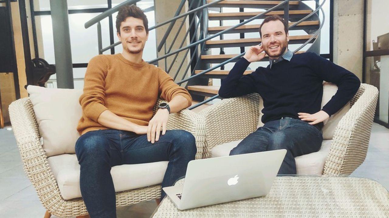 Les deux fondateurs de Thinkeo: Damien Hontang (CEO) à gauche et Quentin Marquet (CPO) à droite.