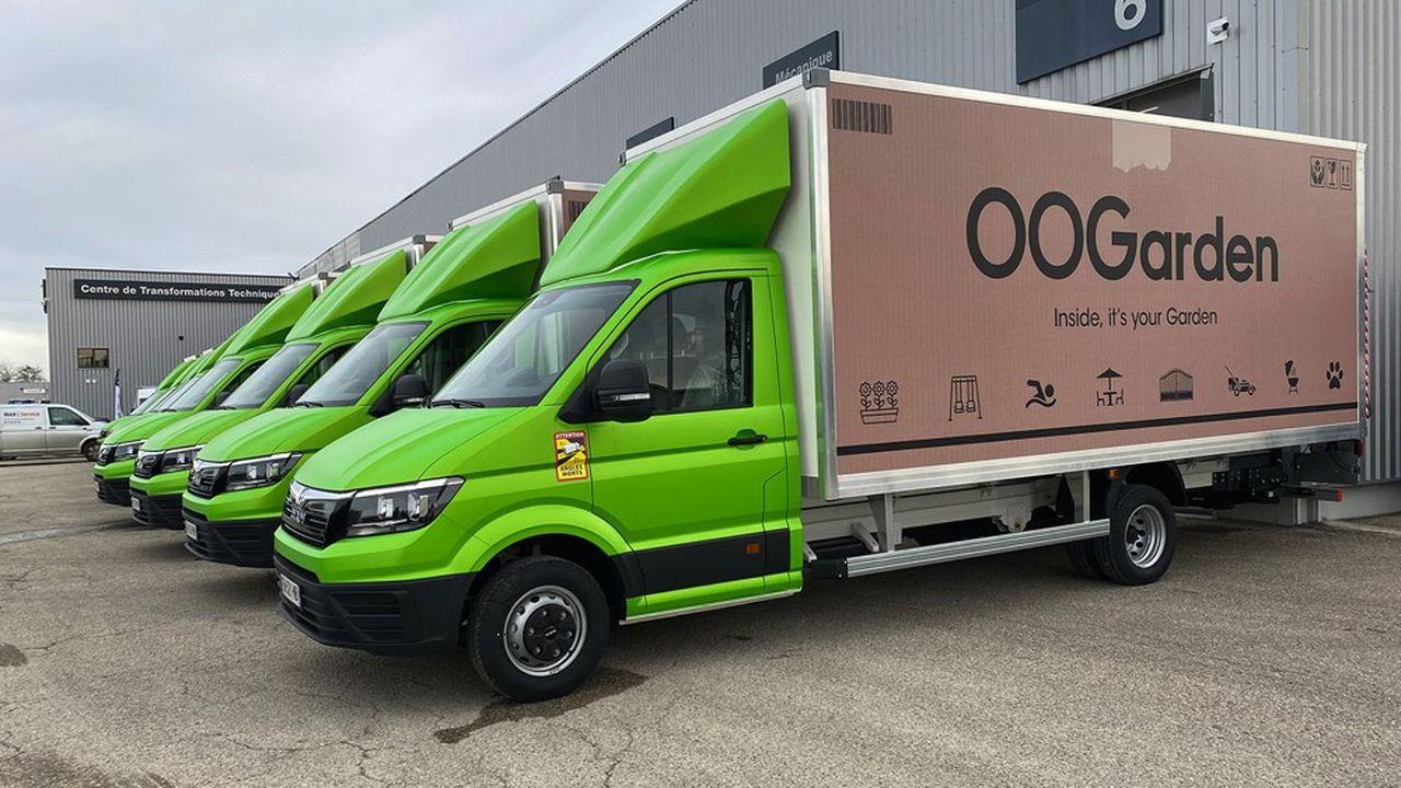 OOGarden n'aurait sans doute pas réalisé 24% de croissance l'année dernière sans sa flotte de 70 camions.