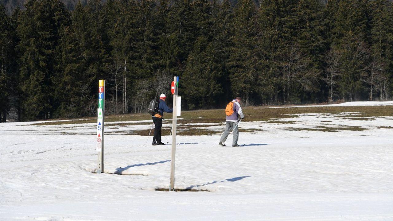 En cinquante ans, dans les Alpes, l'hiver a perdu entre 22 et 34 jours de neige en dessous de 2.000 mètres d'altitude.