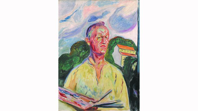 «Autoportrait à la palette», d'Edvard Munch(1926) est estimée 4,5 millions de livres (5,25 millions d'euros).