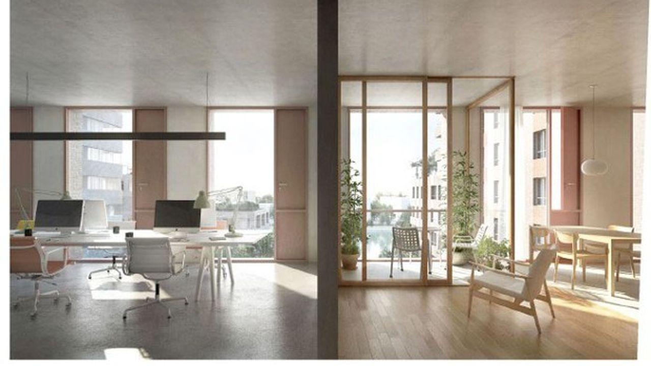 A la porte de Montreuil à Paris, Nexity construit trois immeubles de bureaux pensés dès le départ pour pouvoir être transformés en immeubles de logements.