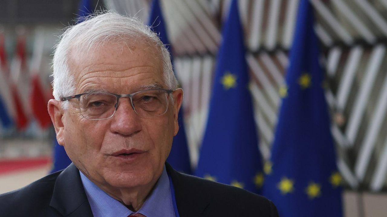 Josep Borrell le Haut représentant de l'UE à son arrivée à la réunion des ministres des Affaires étrangères lundi à Bruxelles