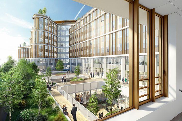 A Saint-Ouen, le nouvel immeuble de bureau So Pop de Covivio, rénovépar la foncière, offrira en 2022 plus de 30.000 mètres carrés en location avec des prestations qui se veulent en adéquation avec les demandes nées de la crise sanitaire.