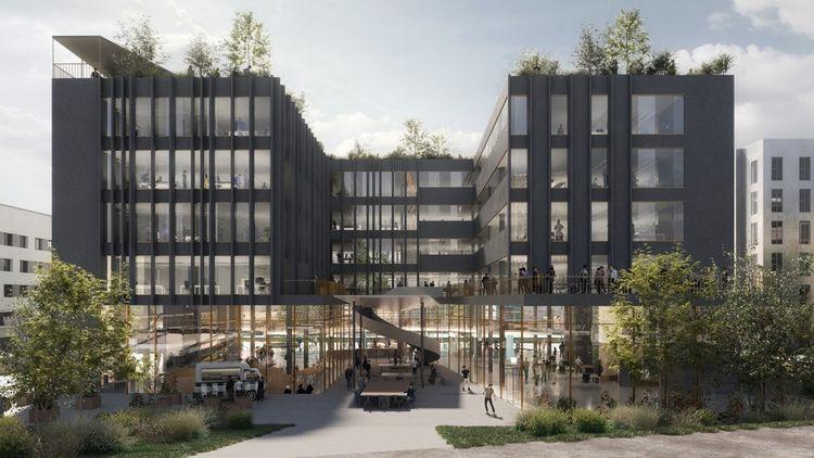 Le programme CyberPlace, future cité numérique située en périphérie de Rennes, est développé par NGE Immobilier et les Atelier(s) Alfonso Femia