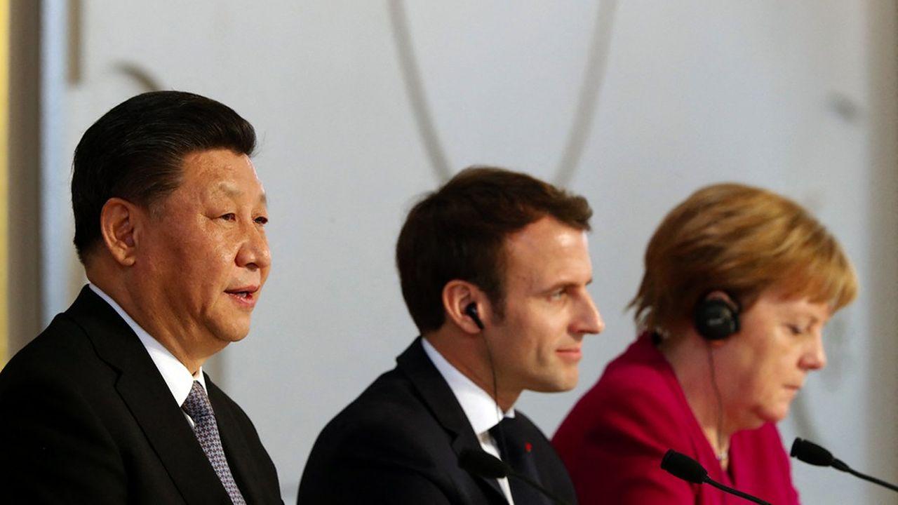 A Paris, en 2019, le président chinois Xi Jinping rencontrait le président Macron et la chancelière Merkel à l'Elysée.