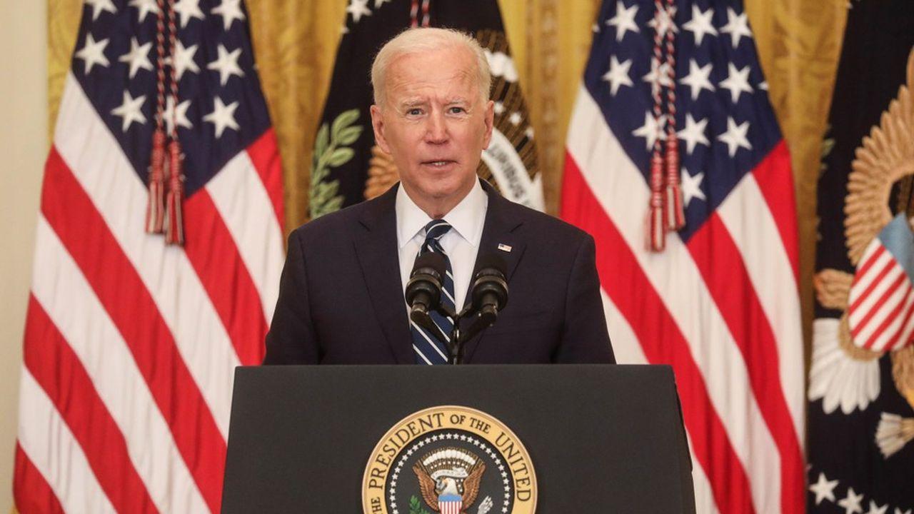 Joe Biden a tenu jeudi sa première conférence de presse depuis son arrivée à la Maison-Blanche le 20janvier.